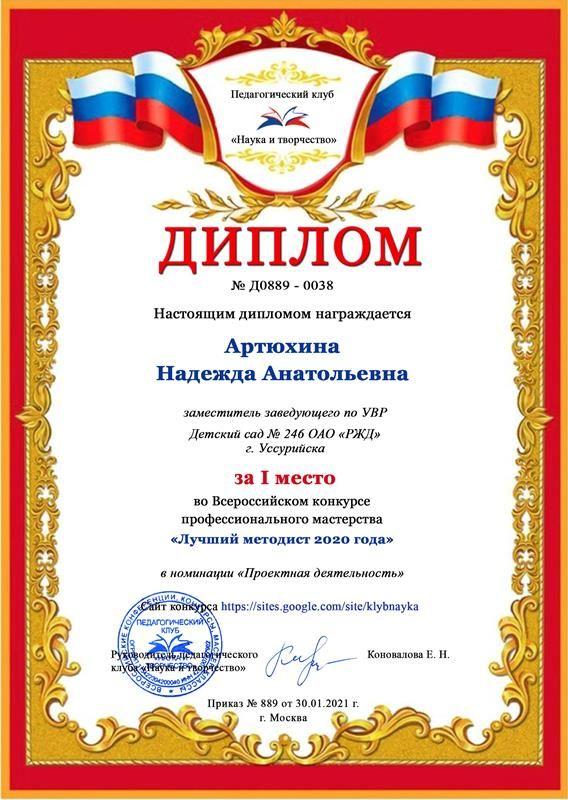 Артюхина Надежда Анатольевна